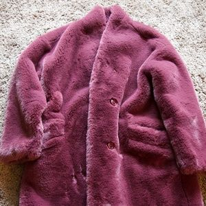 Abercrombie and Fitch faux fur coat - size medium